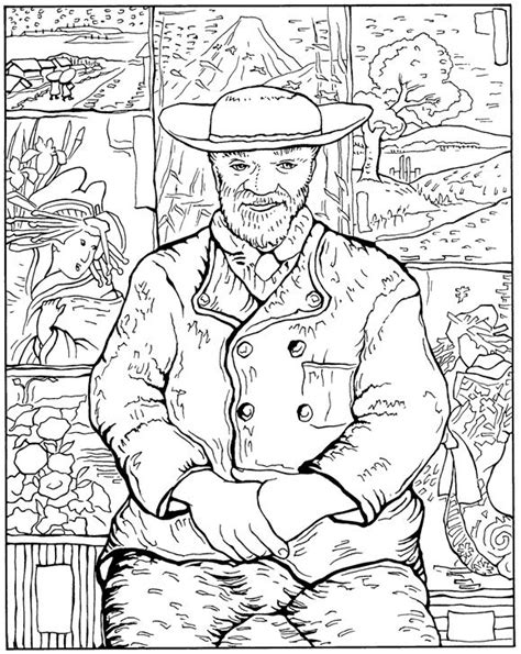 Kleurplaat Esher by N 30 Coloring Pages Of Vincent Gogh