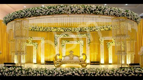 wedding stage flower decorations youtube
