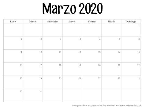 calendarios imprmir minimalista