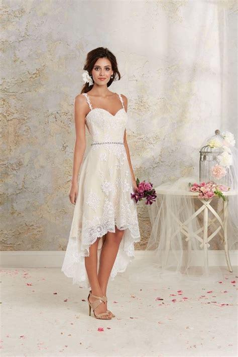 high low wedding dresses 2016 spaghetti straps vintage