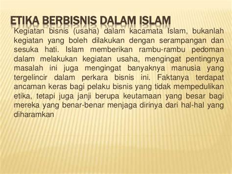 Etika Farmasi Dalam Islam etika berbisnis dalam islam