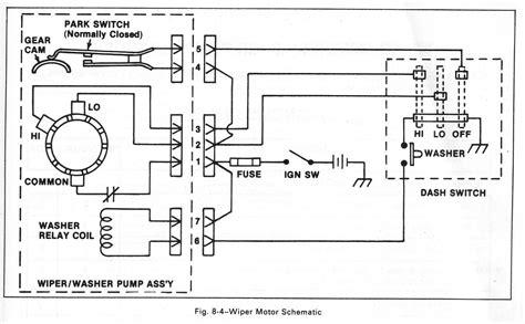 88 Chevy Wiper Motor Wiring Diagram by 1986 S10 Wiper Motor Wiring Diagram Repair Manual