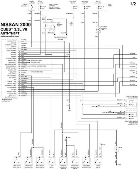 nissan sistema antirobo anti theft system braking diagramas electricos vehiculos 2000