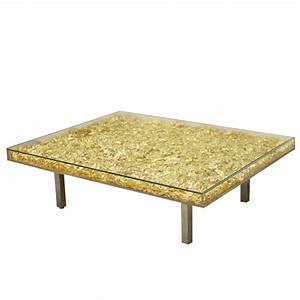 table in gold by yves klein at 1stdibs With yves klein coffee table