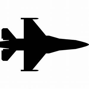 Fighter jet silhouette - Free transport icons