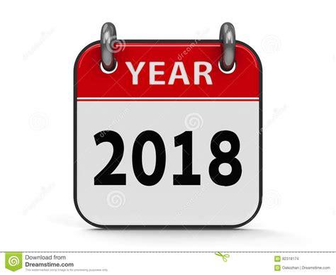 Icon Calendar 2018 Year Stock Illustration. Illustration