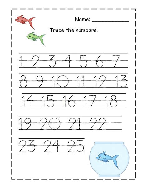 trace number 1 20 worksheets activity shelter