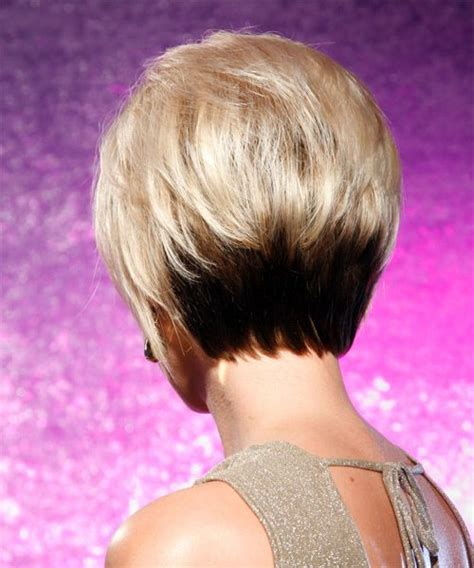 two tone short hair hair style and color for woman