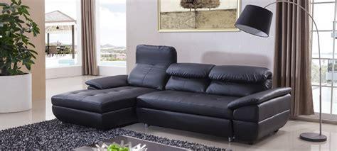 canapé d angle en canapé d 39 angle en cuir noir à prix canon