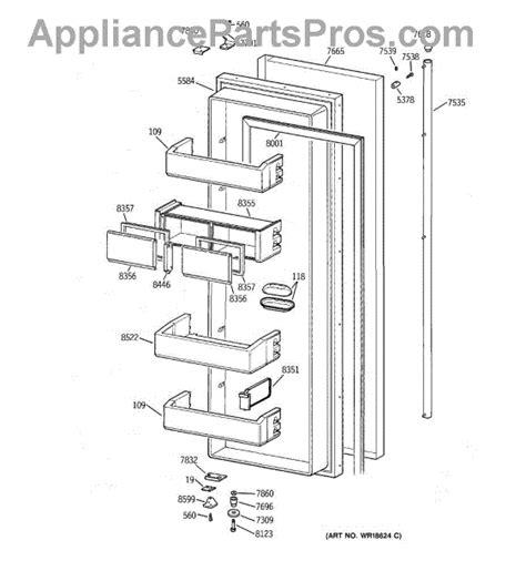 parts  ge zissdcass fresh food door parts appliancepartsproscom
