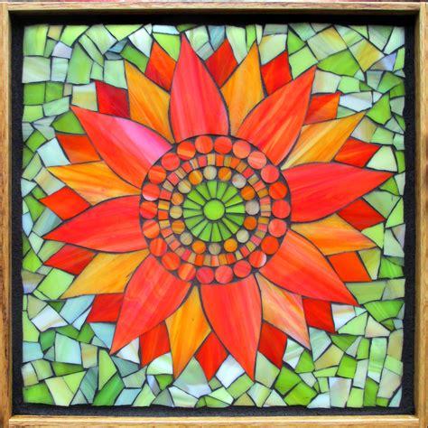 glass mosaic kasia mosaics classes 187 online flower class
