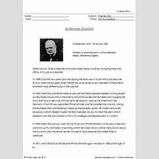 Sir Winston Churchill  Comprehension  Advanced English  Comprehension, Reading Comprehension