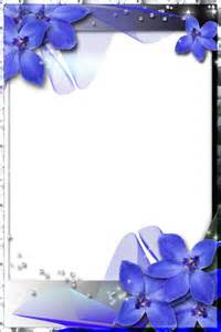 Beautiful Blue Orchids with Transparent Frame