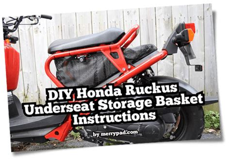 honda ruckus underseat storage template merrypad