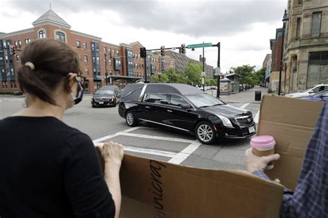 funeral procession  boston honors george