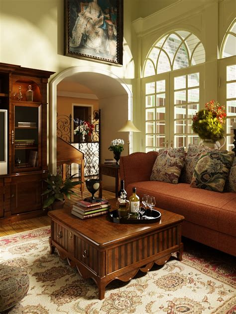 Old Fashioned Living Room Furniture photorealistic old fashioned living room 3d model max