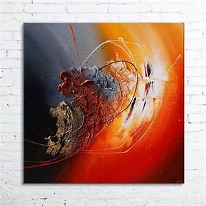 Tableau Peinture Moderne : ankaa tableau abstrait peinture en relief nathalie robert ~ Teatrodelosmanantiales.com Idées de Décoration