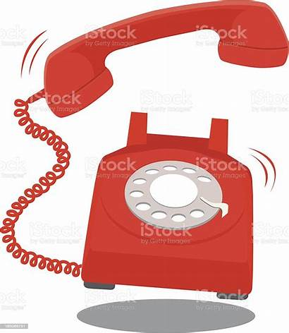 Telephone Ringing Connection Illustration Antique Vector Royalty