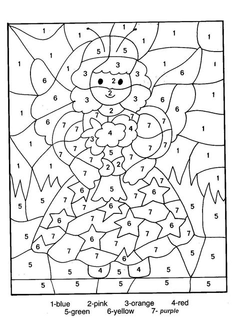 Coloring By Numbers by Number Coloring Pages 13 Coloring