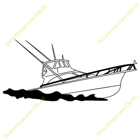 Fishing Boat Clipart Black And White by Fishing Boat Clipart Black White Clipart Panda Free