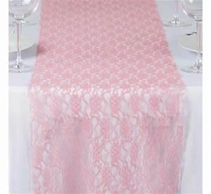 Nappe Rose Pale : chemin de table en dentelle rose quartz les couleurs du ~ Teatrodelosmanantiales.com Idées de Décoration