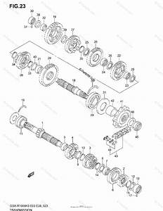 Suzuki Motorcycle 2003 Oem Parts Diagram For Transmission