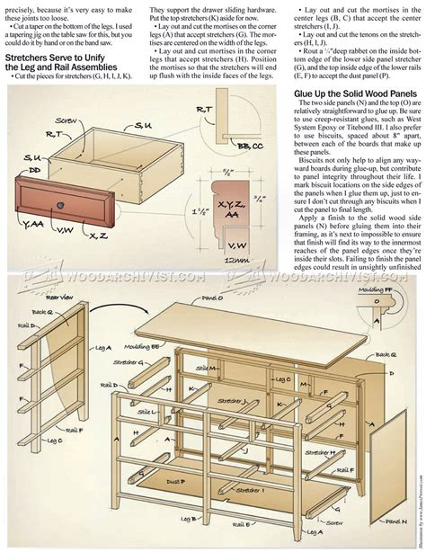 heirloom dresser plans woodarchivist