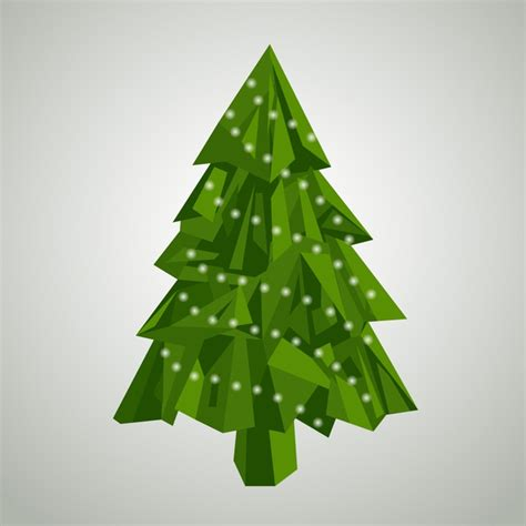 Abstract christmas tree concept Vector | Free Download