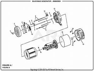Homelite Bm905000 5000 Watt Generator Parts Diagram For