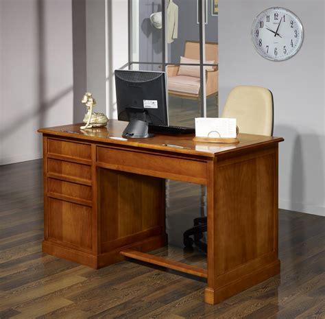 bureau merisier louis philippe bureau 5 tiroirs jeanne en merisier de style louis