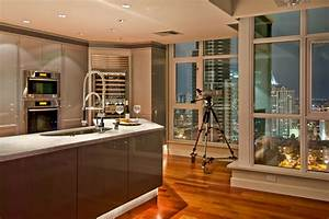 wallpapers background interior decoration of kitchen With kitchen interior design ideas photos