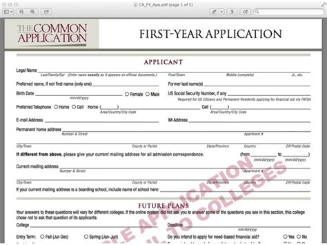 Common College Application