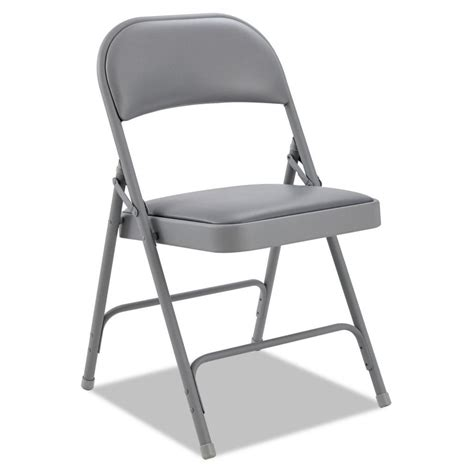 alera steel padded folding chairs with two brace support