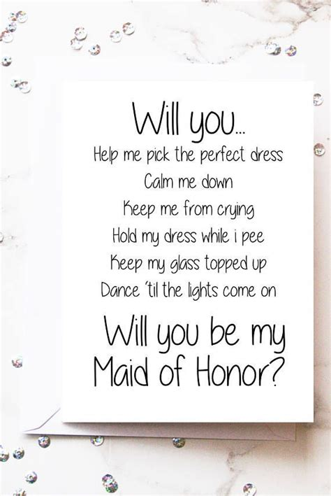 maid  honor card maid  honor proposal