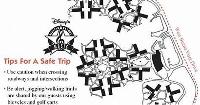Running Jogging Disney Resort Maps Walt Trails