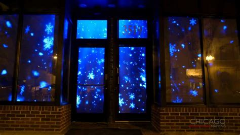 projection mapping  winter themed snowflakes