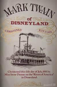 Mark Twain Riverboat Disneyland