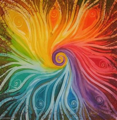 Chakra Painting Colour Trippy Colours Rainbow Wheel