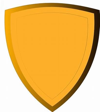 Shield Gold Clip Transparent Vector Clipart Emblem