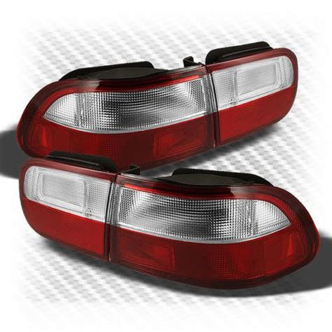 honda civic tail lights for sale sell 92 95 honda civic 2 4 door red clear tail lights