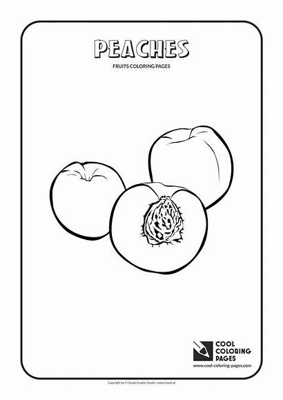 Coloring Pages Peaches Cool Easy Simple Mushroom