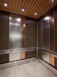 Satin Nickel Ceiling Lights Levele 101 Elevator Interior With Main Panels In Bonded