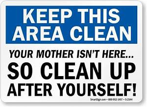 Kitchen Signs Keep Kitchen Clean Signs Kitchen