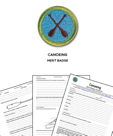 canoeing merit badge worksheet requirements