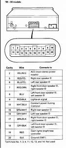 99-00 Civic Oem Radio Wiring Diagram