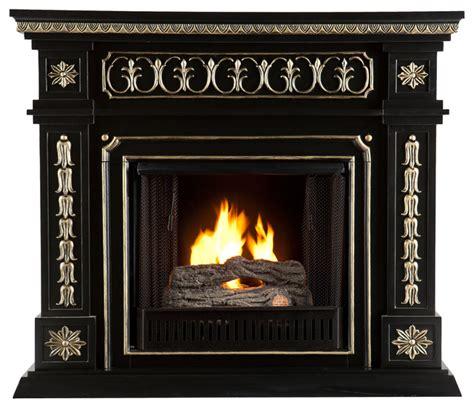 donovan gel fuel fireplace black victorian indoor