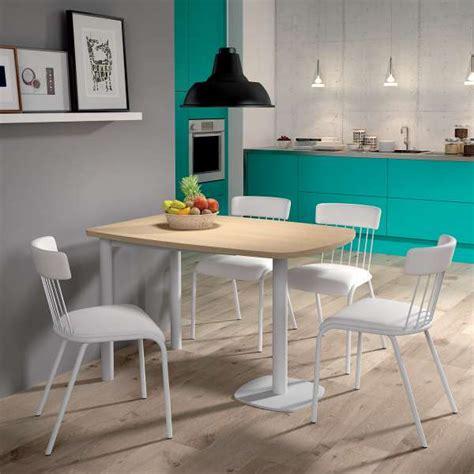 table de cuisine petit espace table de cuisine demi oblongue en stratifié et métal pour