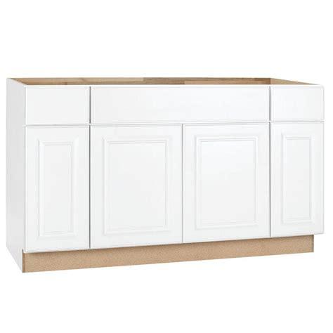 hampton bay hampton assembled xx  sink base kitchen cabinet  satin white ksb sw