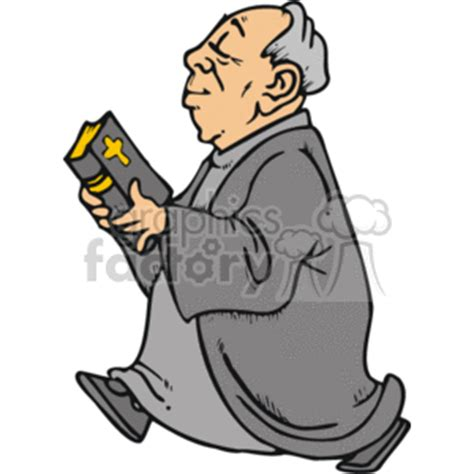 cartoon man walking  bible study clipart royalty