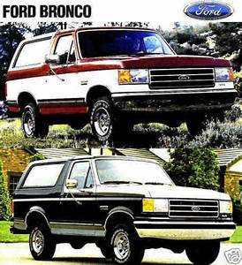 Buy 1990 Ford Bronco Factory Brochure